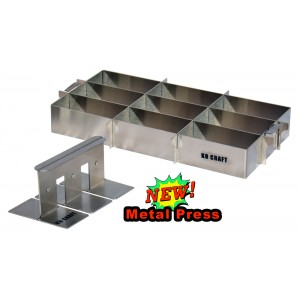 Mo Bettah 9 Cavity Stainless Steel Musubi Maker with Three Pad Press